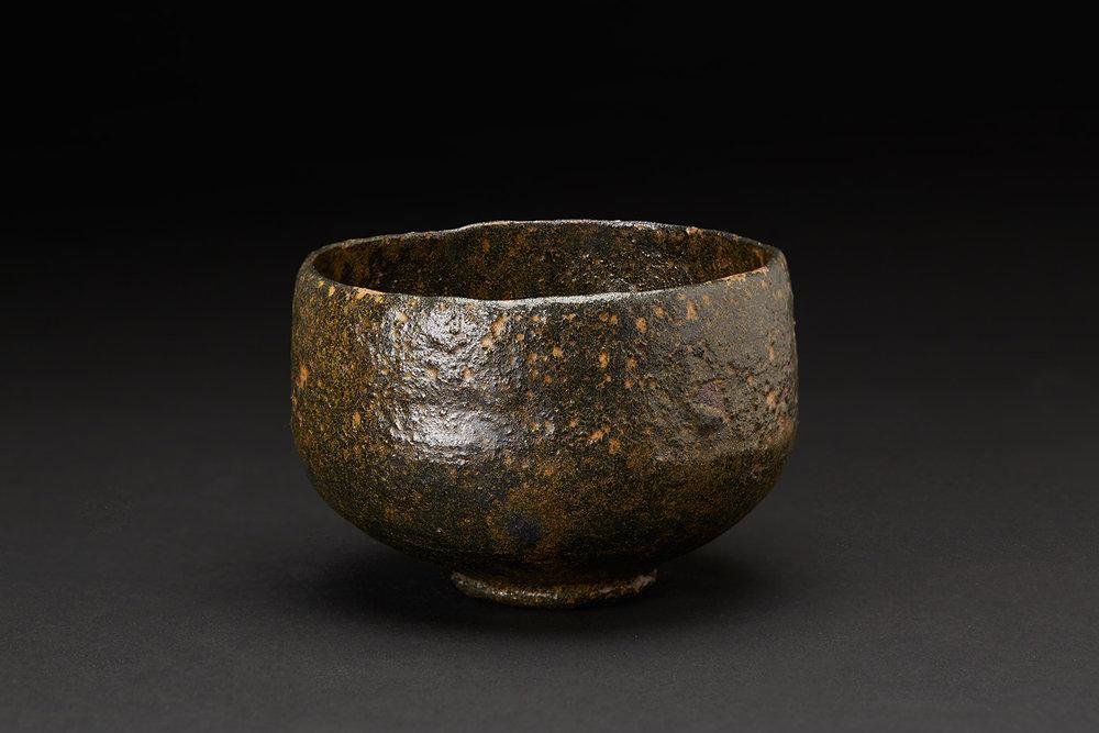 Akira Takeuchi  Chawan,   , 2018 Mogusa clay, red clay, iron glaze 3.5 x 5.25 x 5.25 inches 8.9 x 13.3 x 13.3 cm TaA 14