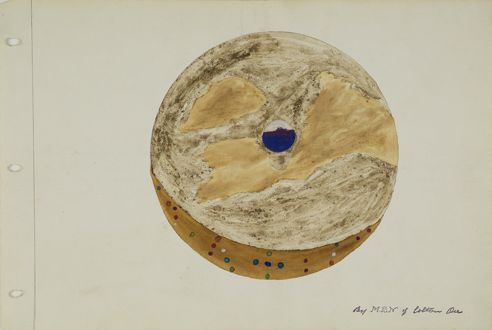Melvin Edward Nelson  Worlds in Outer Space  , 6/21/62 Mineral Pigment, Watercolor on Paper 11 x 17 inches 27.9 x 43.2 cm Nel 113
