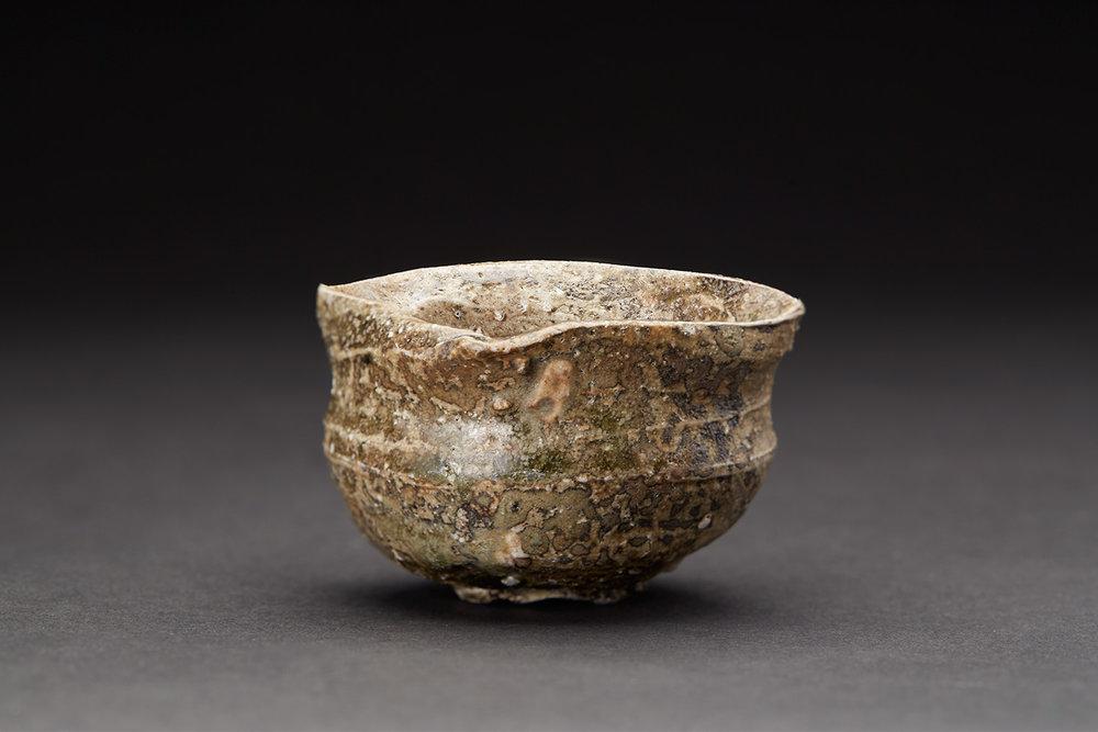 Masafumi Onishi    Guinomi  , 2016 Ash glazed ceramic 2 x 2.75 x 3 inches 5.1 x 7 x 7.6 cm MOni 2  $150