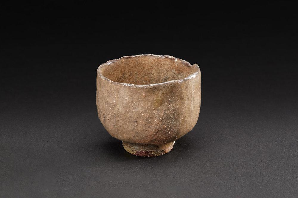 Akira Takeuchi    Guinomi  , 2018 Red clay, ash glaze 2.25 x 2.5 x 2.5 inches 5.7 x 6.4 x 6.4 cm TaA 7  $190