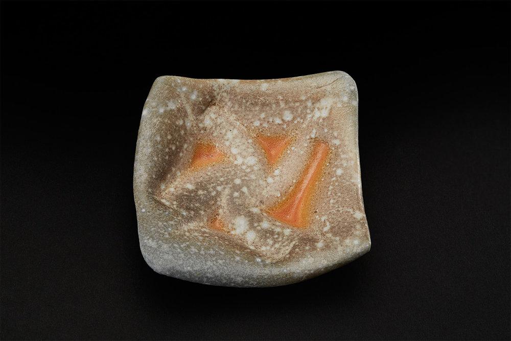 Gail Nichols  Plate  , 2005 Soda glaze/stoneware 1.2 x 3.9 x 3.9 in (3.0 x 9.9 x 9.9 cm) GaN 3