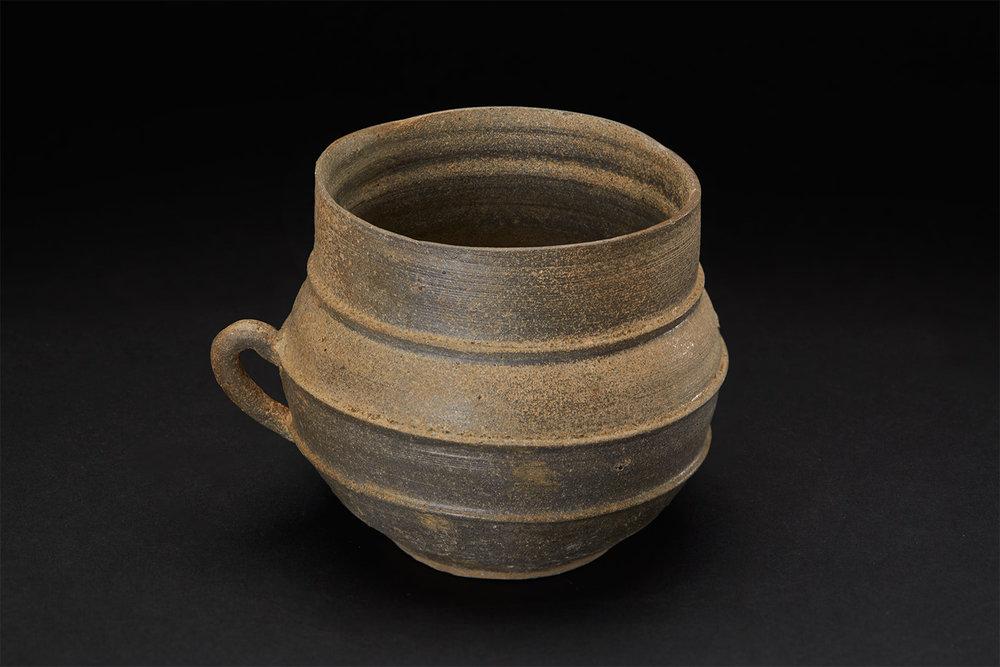 Korean Ceramics  Shilla Cup  , Late Shilla Period (668–935) Course Stoneware 4 x 4.5 inches 10.2 x 11.4 cm KCer 5