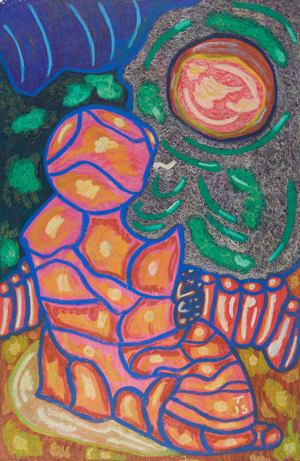 Anthony Joseph Salvatore  1 John 1, v.9  , 1989 Oil stick, acrylic/paper 40 x 26 inches 101.6 x 66 cm JS 173