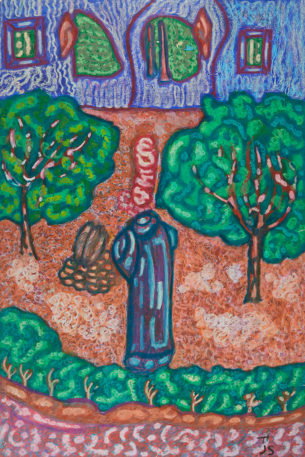 Anthony Joseph Salvatore  Psalms 58, v.8  , 1989 Oil stick, acrylic, mixed media/paper 35.5 x 24 inches 90.2 x 61 cm JS 169