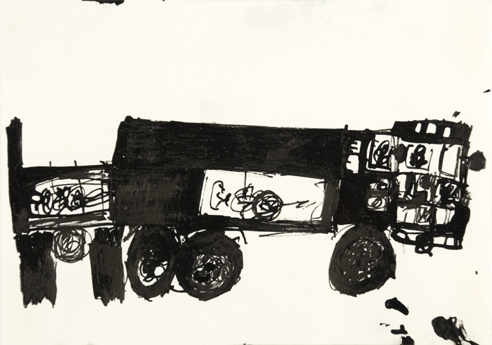 Toshio Okamoto  Truck  , 2006 Ink/paper 7.5 x 5.5 inches 19.1 x 14 cm TOK 12