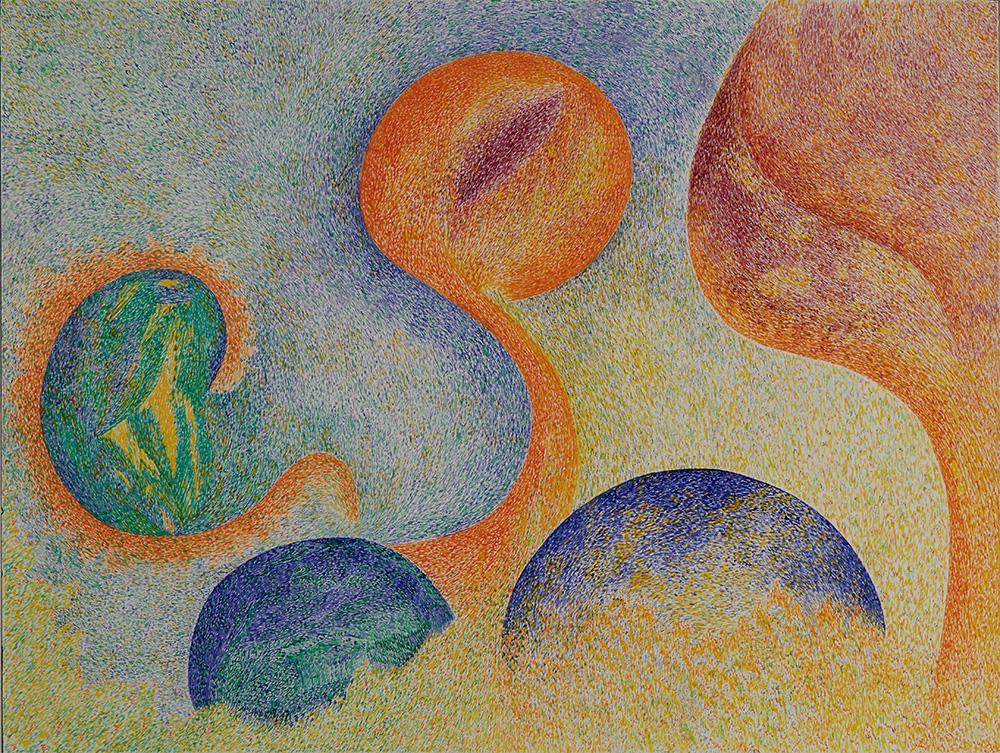 Henriette Zéphir  Untitled  , 1985 Watercolor, ink on paper 12.25 x 16 inches 31.1 x 40.6 cm HZe 20
