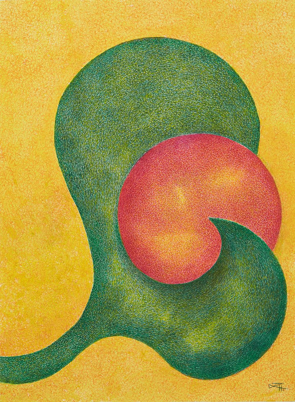 Henriette Zéphir  Untitled  , 2008 Watercolor, ink on paper 15 x 11 inches 38.1 x 27.9 cm HZe 11