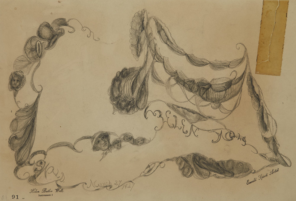 Helen Butler Wells  Spirit Drawing #91  , 1927 Pencil on paper 8.25 x 12 inches 21 x 30.5 cm HW 42