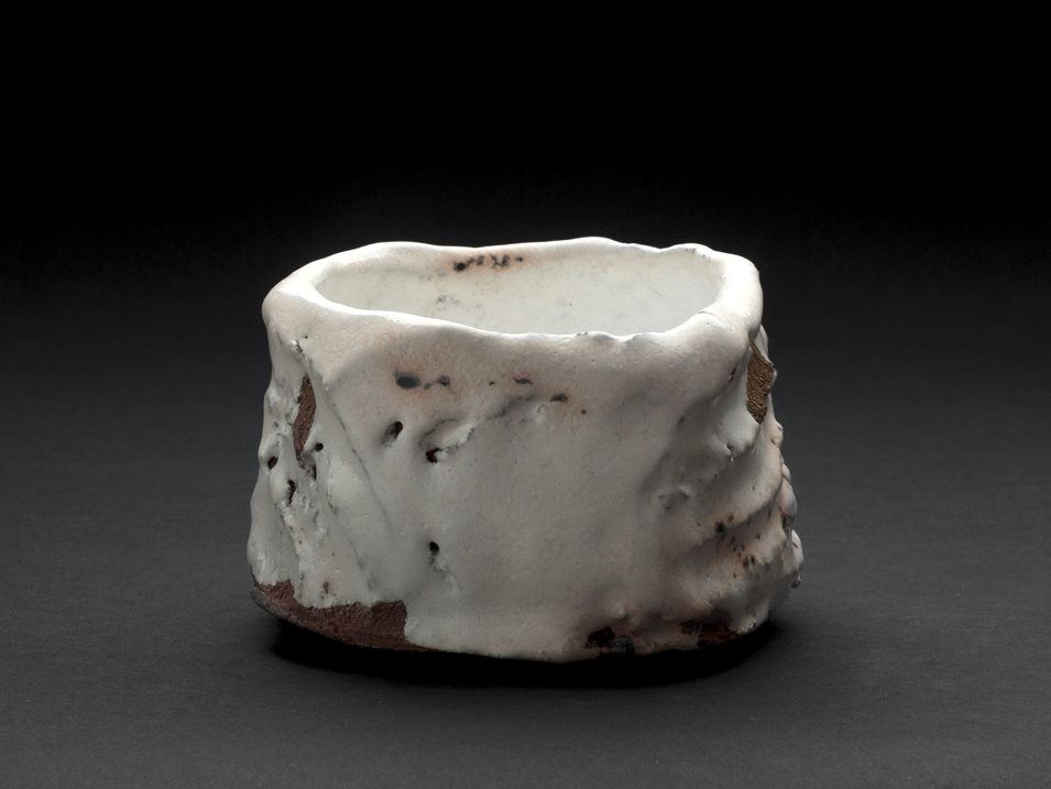 Robert Fornell  White Carved Chawan  , 2012 Ceramic 4 x 5 x 4.5 inches 10.2 x 12.7 x 11.4 cm RFo 93