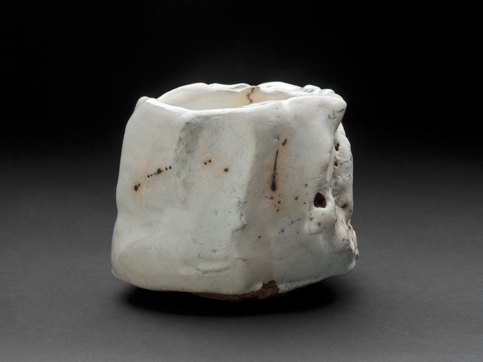 Robert Fornell  White Carved Chawan  , 2012 Ceramic 3.25 x 4.5 x 5 inches 8.3 x 11.4 x 12.7 cm RFo 94
