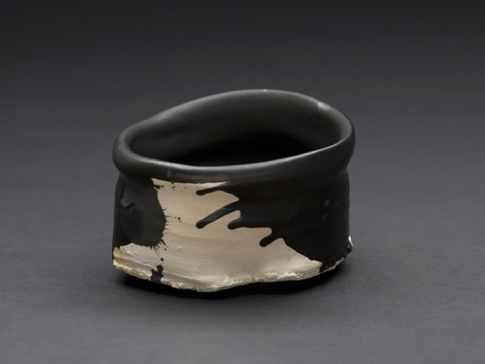 Robert Fornell  Black Iron Guinomi  , 2012 Clay, Oxidation fired to cone 7 4 x 7 x 7 inches 10.2 x 17.8 x 17.8 cm RFo 51