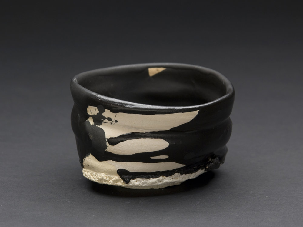 Robert Fornell  Black Iron Guinomi  , 2012 Clay, Oxidation fired to cone 7 5 x 8 x 7 inches 12.7 x 20.3 x 17.8 cm RFo 52