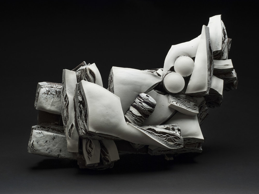 Rafa Perez  Untitled  , 2012 Porcelain, fired at 1150 degrees 19.69 x 13.39 x 10.24 inches 50 x 34 x 26 cm RPe 25