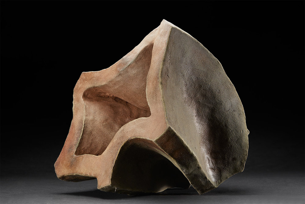 Tim Rowan  Untitled  , 2008 Woodfired Ceramic 14 x 12 x 14 inches 35.6 x 30.5 x 35.6 cm TR 102