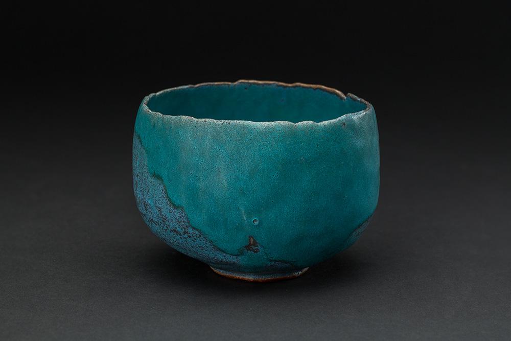 Akira Takeuchi  Chawan  , 2018 Ceramic 3.25 x 5 x 4.75 inches 8.3 x 12.7 x 12.1 cm TaA 44