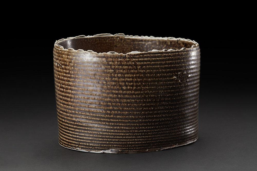 Sandy Lockwood  Earth Series   Woodfired and salt glazed ceramic 6 x 9 x 7 inches 15.2 x 22.9 x 17.8 cm SAL 17