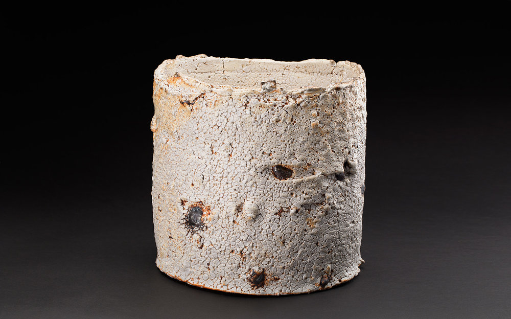 Sandy Lockwood  Subduction Series  , 2016-2019 Stoneware and inclusions 9 x 9 x 9 inches 22.9 x 22.9 x 22.9 cm SaL 23