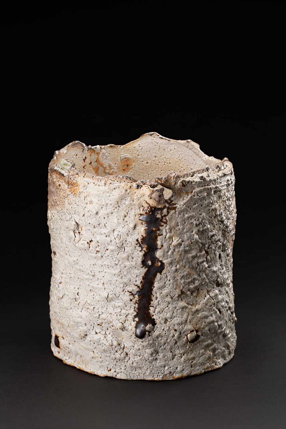 Sandy Lockwood  Subduction Series  , 2016-2019 Stoneware and inclusions 7 x 7 x 6.5 inches 17.8 x 17.8 x 16.5 cm SaL 24