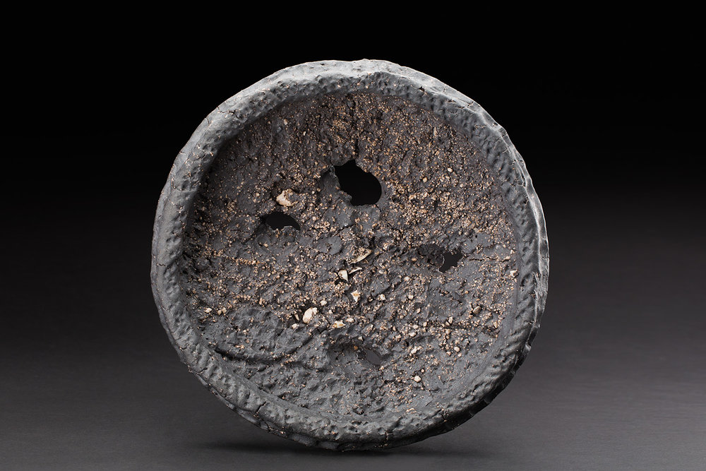 Sandy Lockwood  Gleaning Series  , 2016-2019 Stoneware and inclusions 12 x 12 x 3 inches 30.5 x 30.5 x 7.6 cm SaL 25