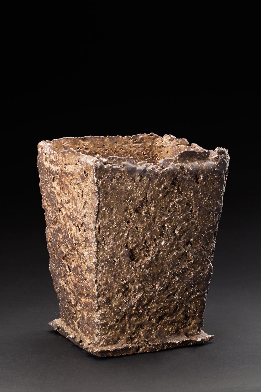 Sandy Lockwood  Fish Box Series  , 2016-2019 Stoneware and inclusions 8.5 x 6.25 x 6 inches 21.6 x 15.9 x 15.2 cm SaL 27