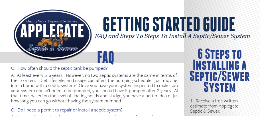 Get The Guide. - It's a handy step-by-step guide to installing a septic/sewer system.