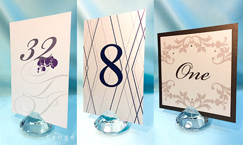 5pcs 2x2clear crystal diamond place card holders wedding favortable numbers holder and business card holders