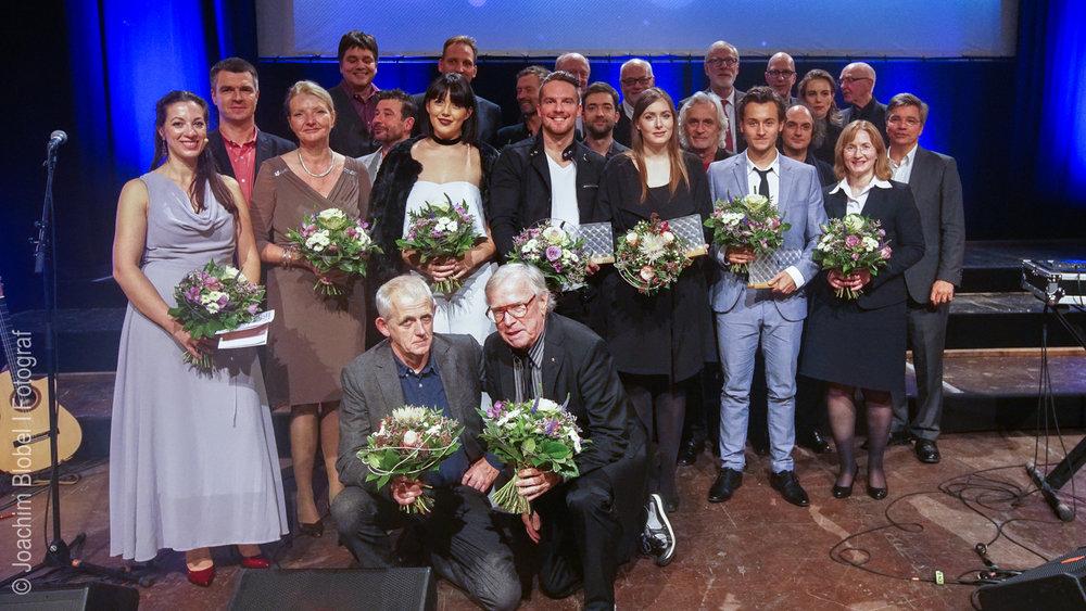 Preisträger und Laudatoren des Deutschen Filmmusikpreises 2016, © Joachim Blobel