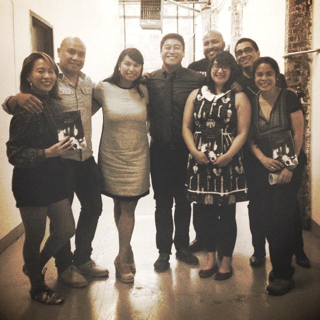 So happy. With Kelly Zen-Yie Tsai, Patrick Rosal, Jenn Villanueva, R. A. Villanueva, John Murillo, Joseph O. Legaspi, and Sarah Gambito. Photo courtesy of Kelly Zen-Yie Tsai.