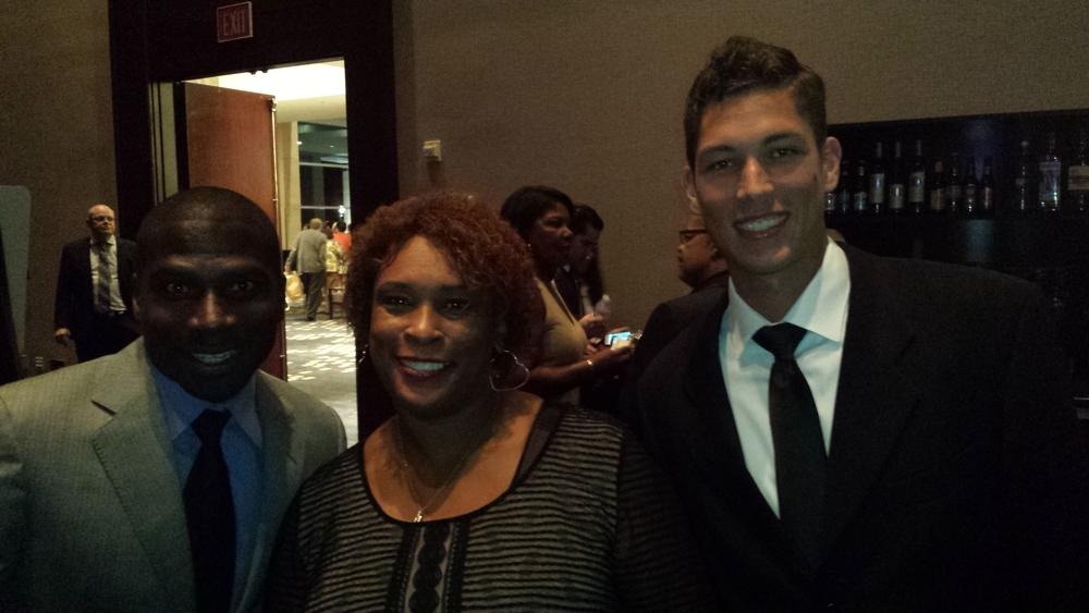 Jesse Cooper, Zina Garrison, Matt McBride at the Zina Garrison Gala
