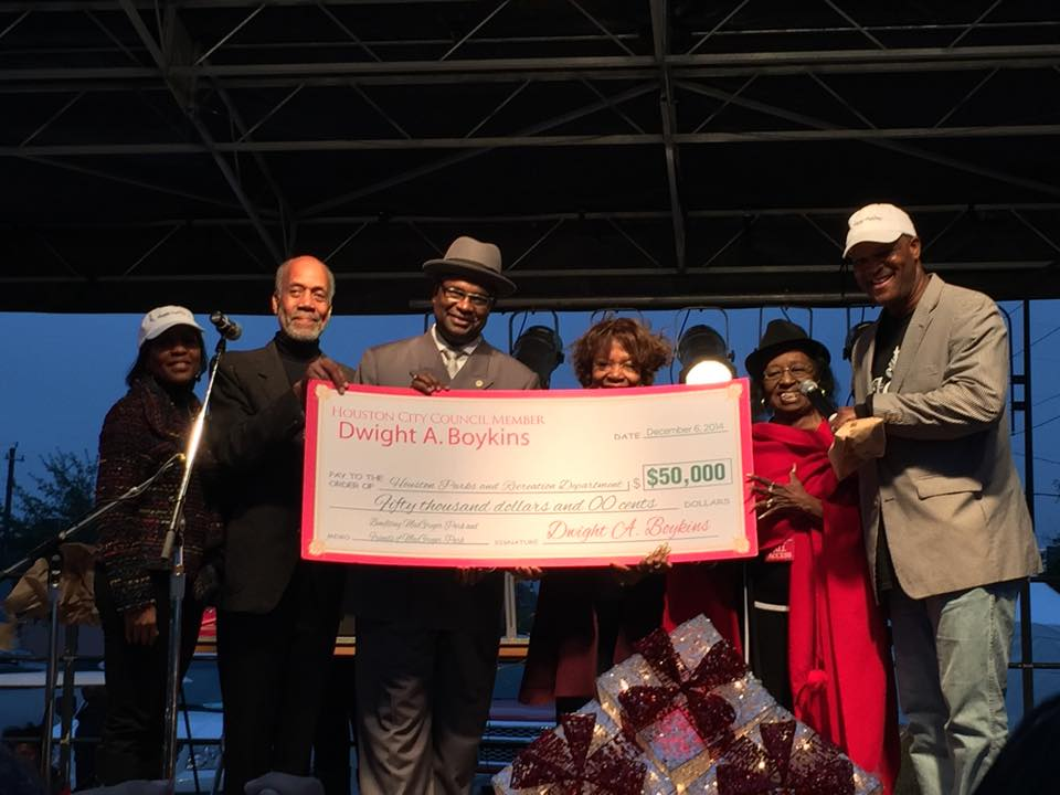 Houston Council Member Dwight Boykins of District D is committed to Supporting HFTC Tennis,MacGregor Park & ParksToPros