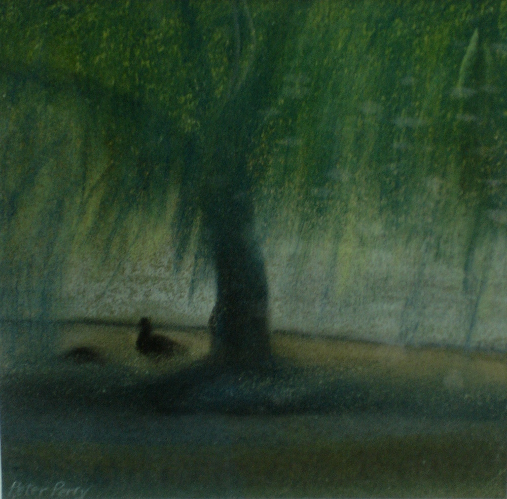 Willow tree with goose,  Normandy
