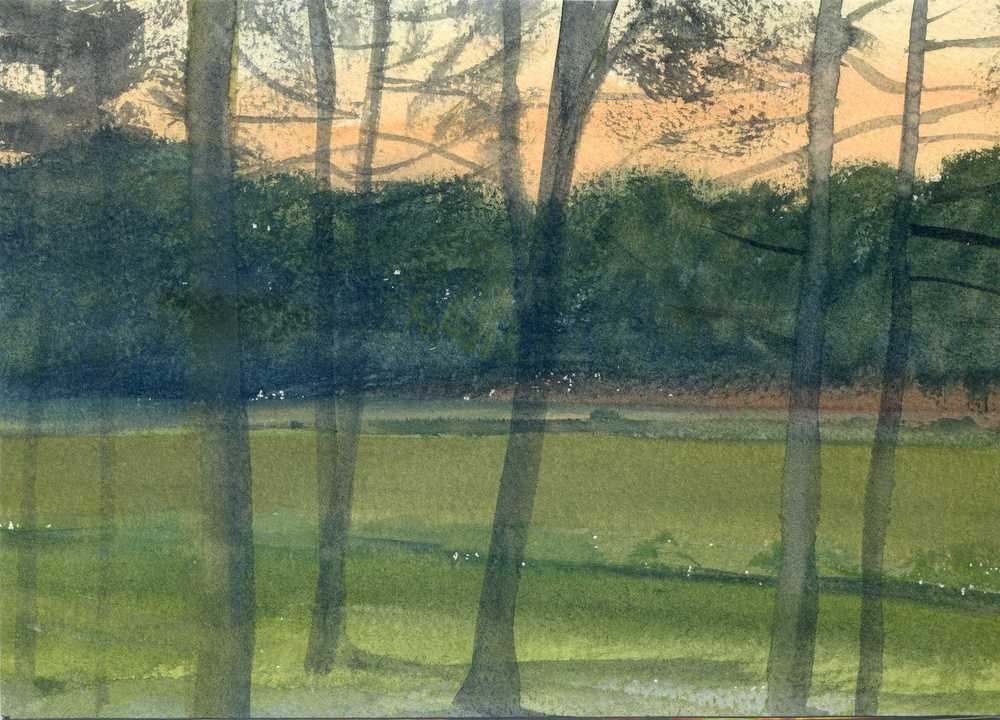 "FORGES LES EAUX, NORMANDY  6X8.25"" (15X21cm)   Watercolour   Sold"
