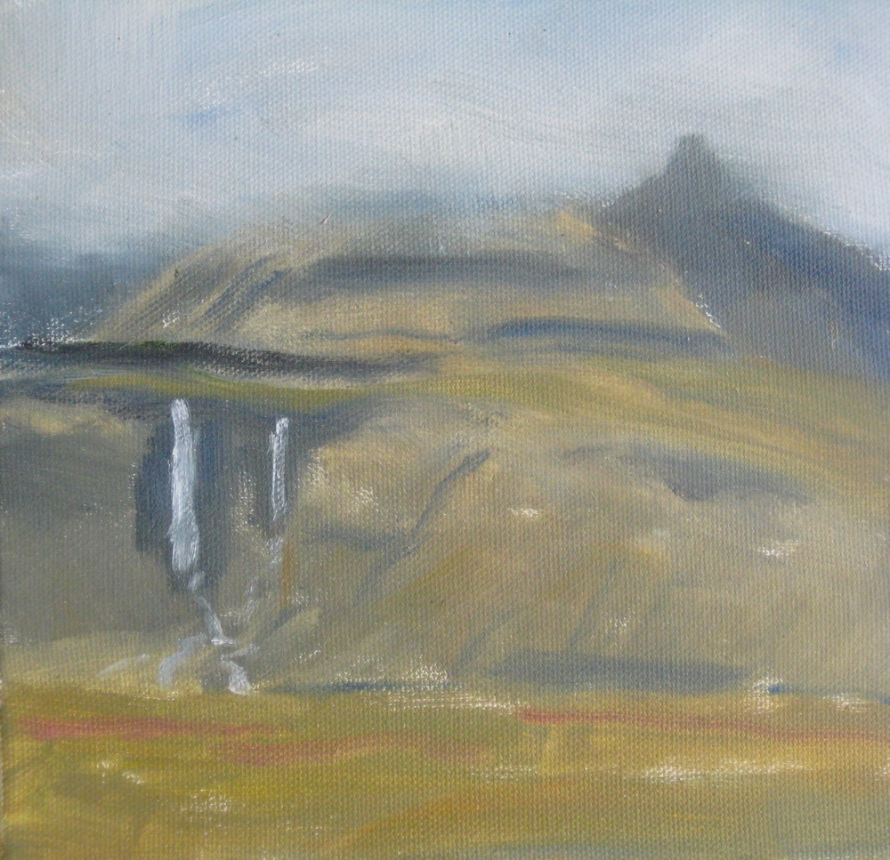 "WEST ICELAND 4  8X6"" (20X15cm)  Oil on canvas"