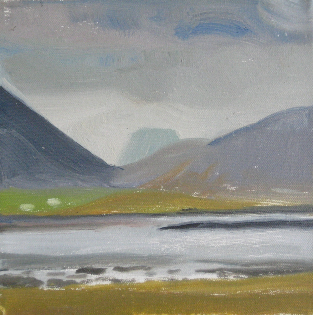 "WEST ICELAND 5  8X8"" (20X20cm)   oil on canvas"