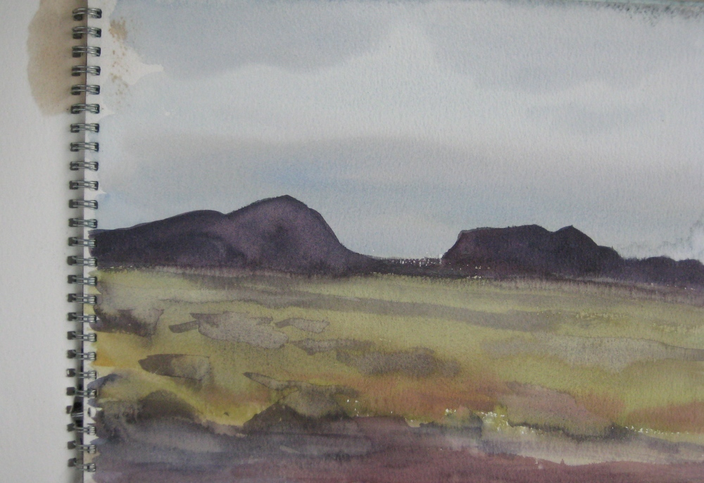 "WEST ICELAND  11X8.5"" (28X22cm)   Watercolour"