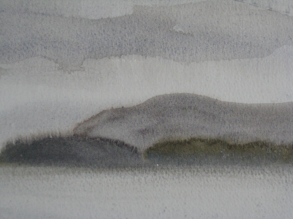 "WEST ICELAND, WET DAY  Approx 9X8"" (23X20cm)   Watercolour"