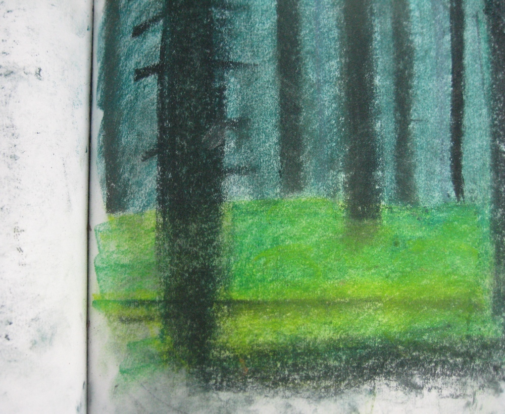 NORWEGIAN WOOD  Pastel
