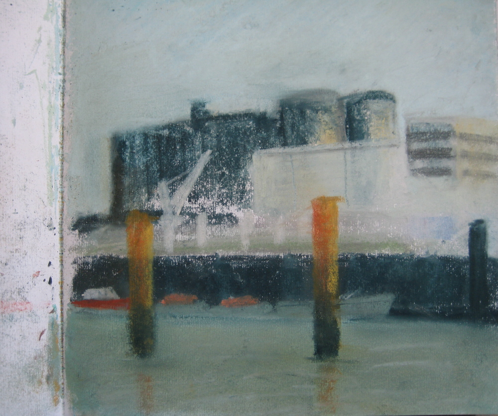 HARBOUR AT LE HAVRE II  Pastel on paper