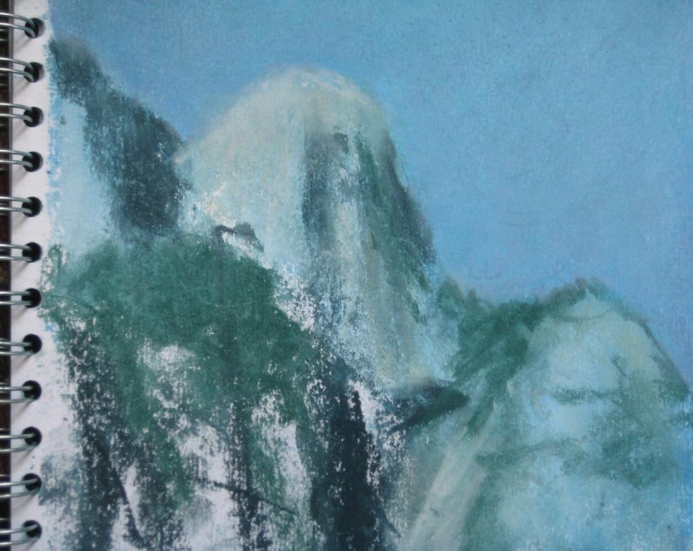 LYSEFJORD, NORWAY  Pastel