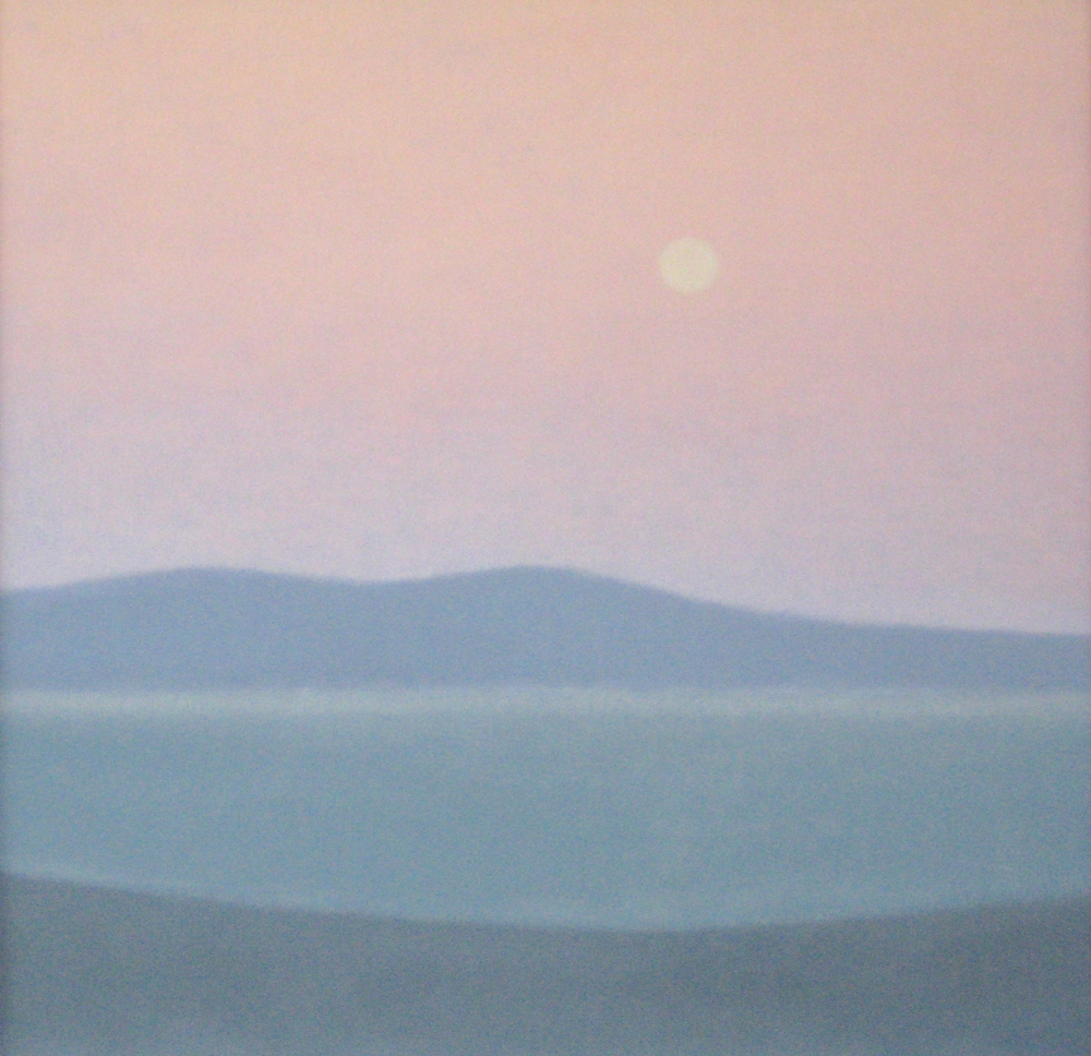 "BAY  11.75X11.75"" (30X30cm) Oil on canvas"