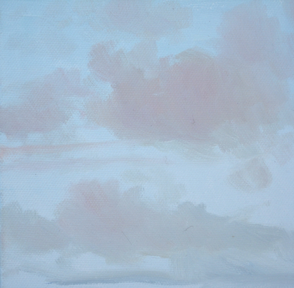 "SKY VIII  5.75X5.75X1"" (15X15X2.5cm))  Oil on canvas"