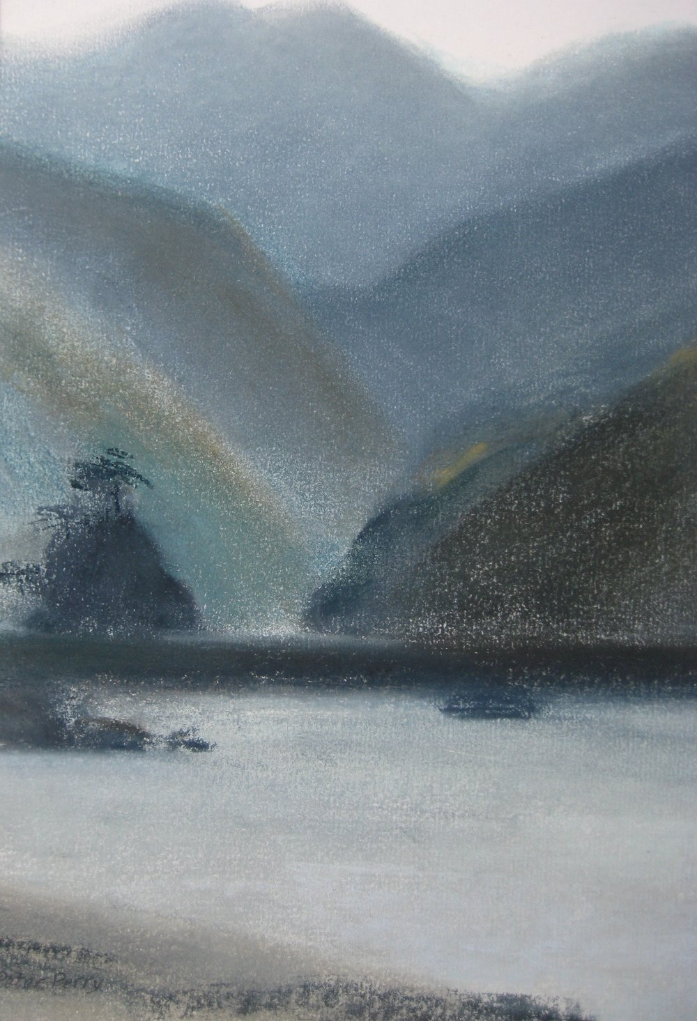 "IZU, JAPAN V  Approx 7.5x10"" (19x25cm)  Pastel on card   Sold"