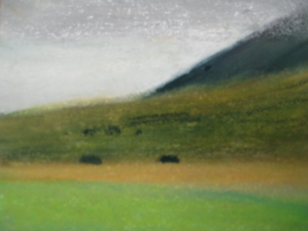 "WEST ICELAND 7  Approx 7.75x6.5"" (19x16cm)   Pastel on card"