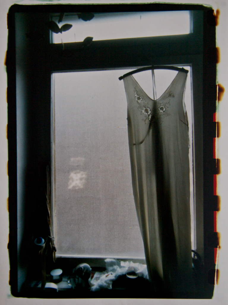 Dress in a window