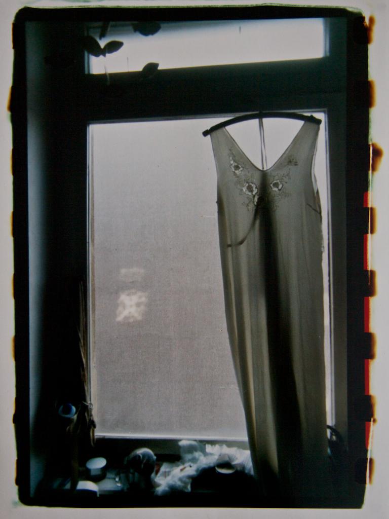 Dress in a window