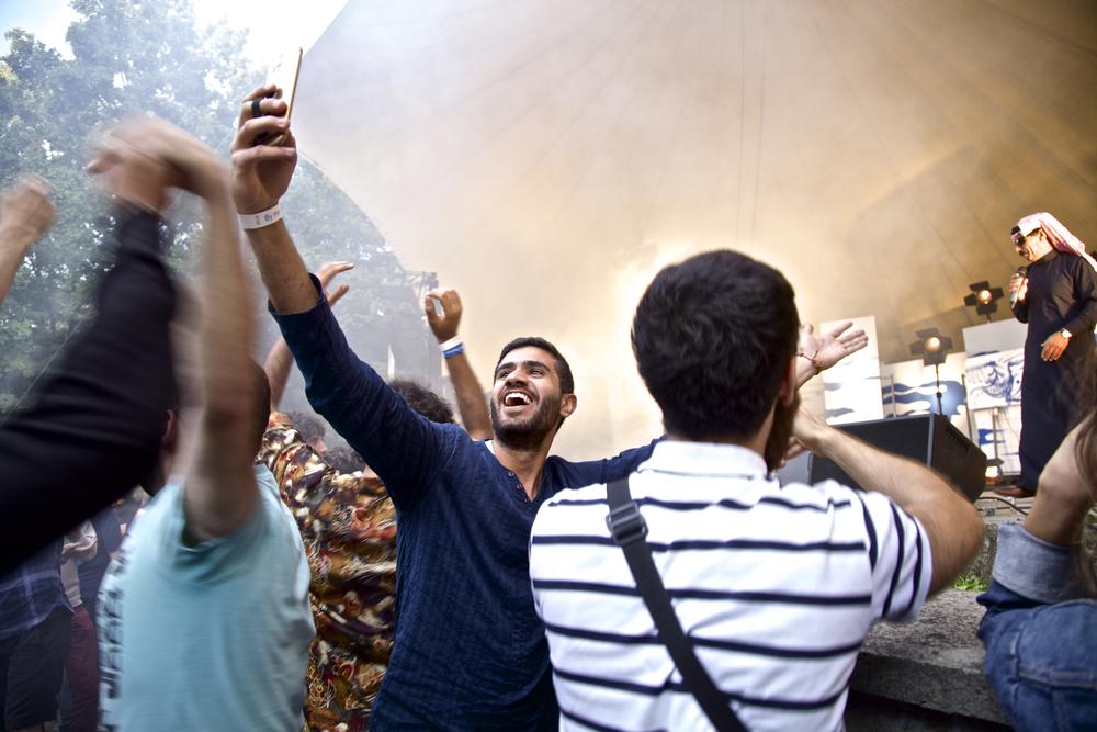 Fans at Omar Souleyman concert.