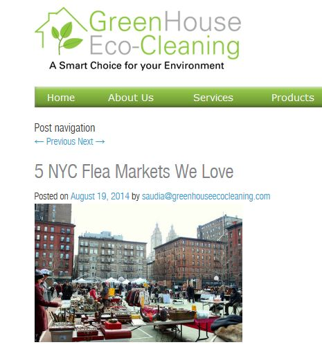 Green House Eco-Cleaning: 5 NYC Flea Markets We Love  featuring Hell's Kitchen Flea Market