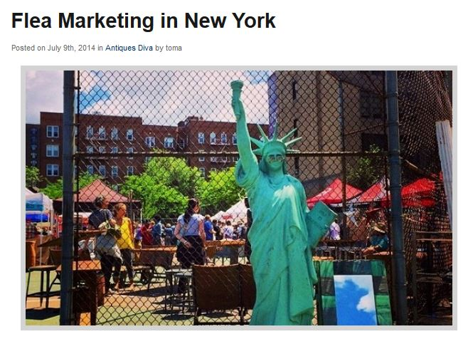 The Antiques Diva & Co: Flea Marketing in New York --featuring Hell's Kitchen Flea Market