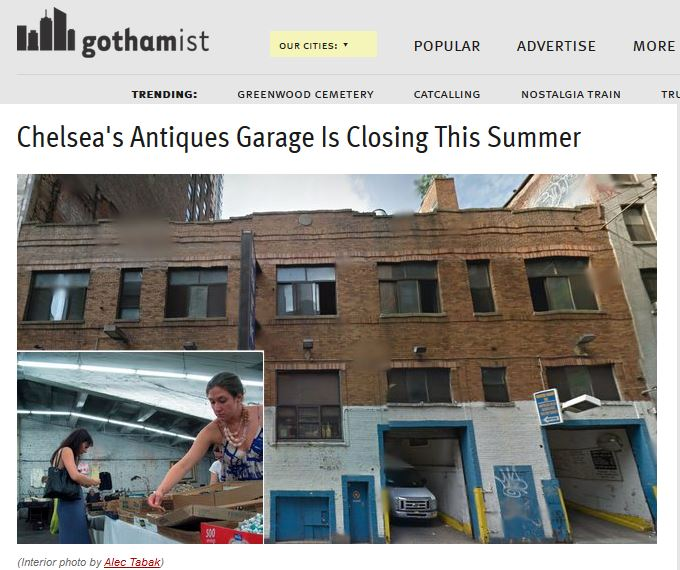 Gothamist: Chelsea's Antiques Garage is Closing This Summer