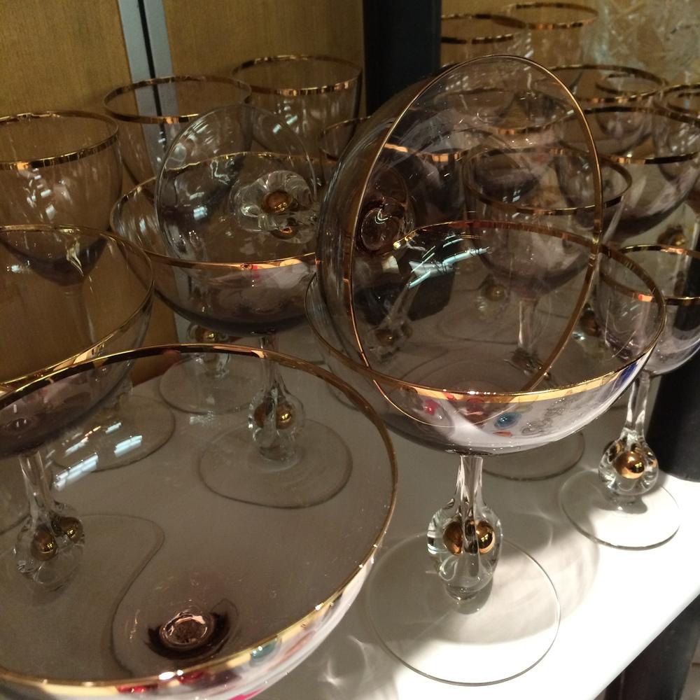 Rare Czech 1950s glassware
